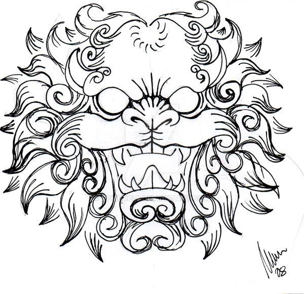 Foo Dog Head -sketch- By Dfmurcia On DeviantArt