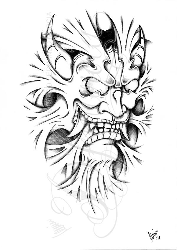 Hannya inside -Shadow- by dfmurcia on DeviantArt