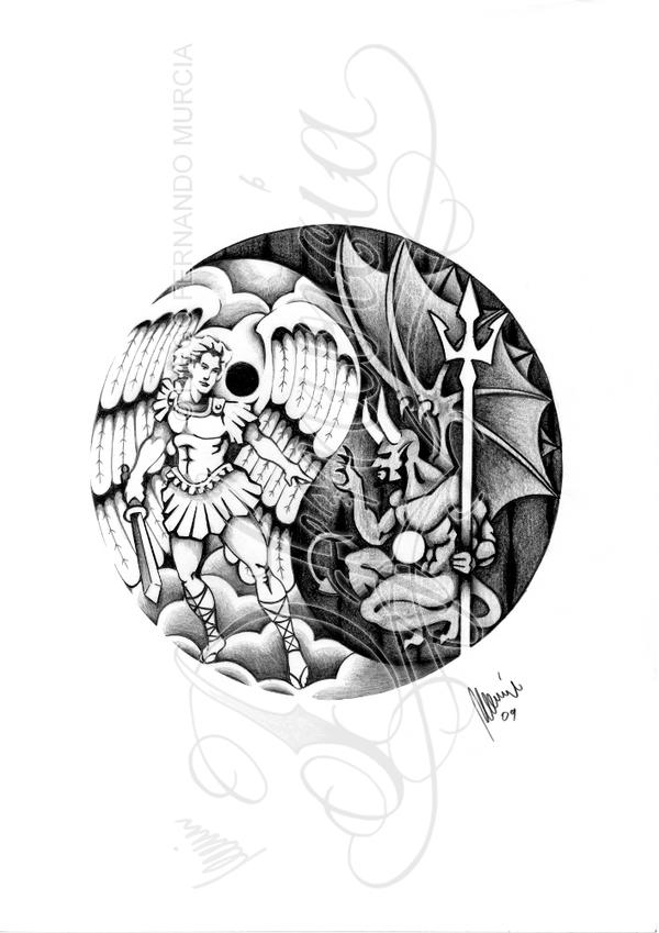 Angel vs. Demon -yin yang- by dfmurcia