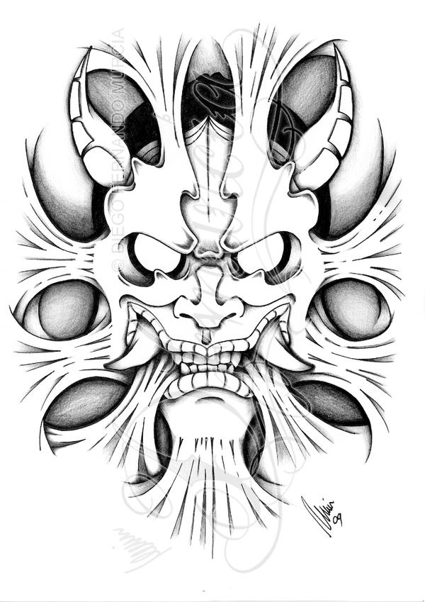 Hannya inside 4 shadow by dfmurcia on deviantart for Kabuki mask template