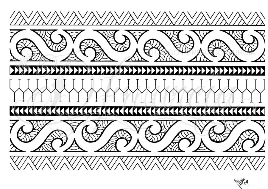 polynesian armband 01 by dfmurcia on deviantart. Black Bedroom Furniture Sets. Home Design Ideas