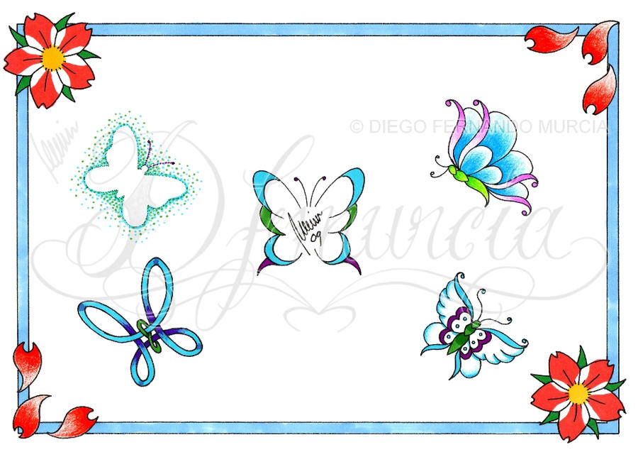 Butterfly Tattoo Flash Sheets