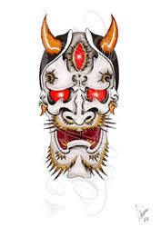 Barbed hannya 2 -coloured- by dfmurcia