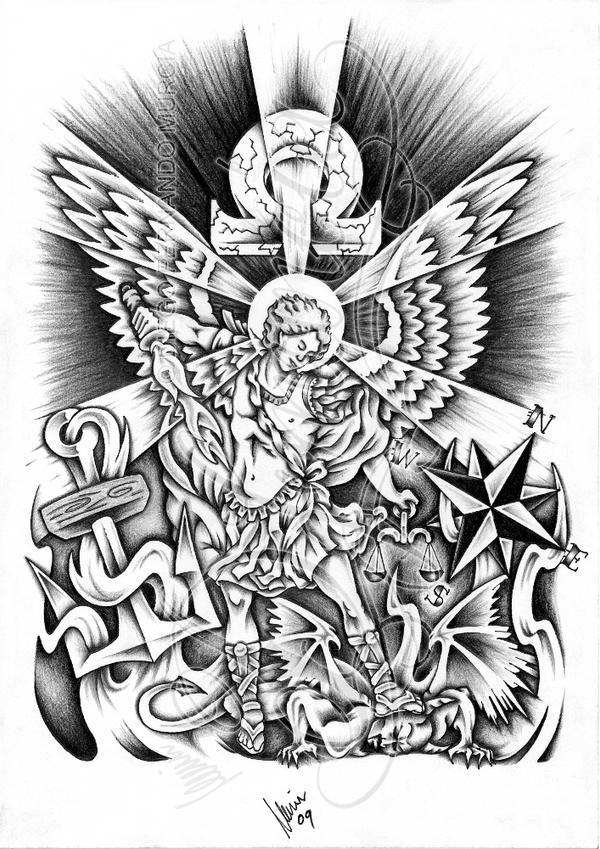 Custom St Michael By Dfmurcia On Deviantart
