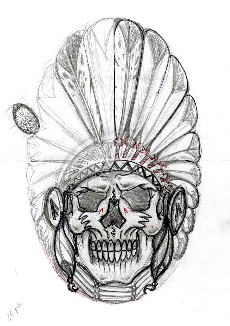 Indian Skull Sketch 1 By Dfmurcia On Deviantart