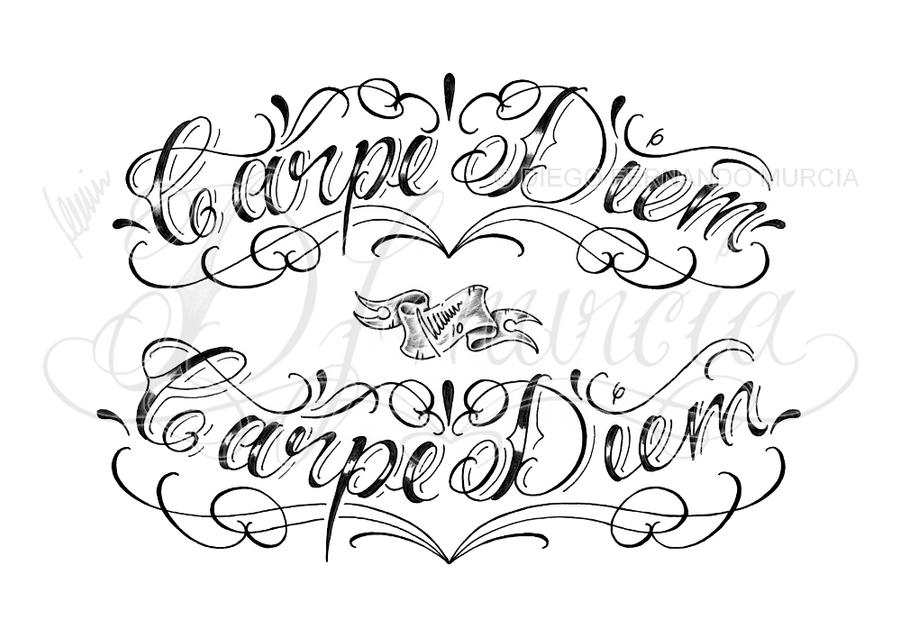 b4fd7d849 Carpe Diem Lettering by dfmurcia on DeviantArt
