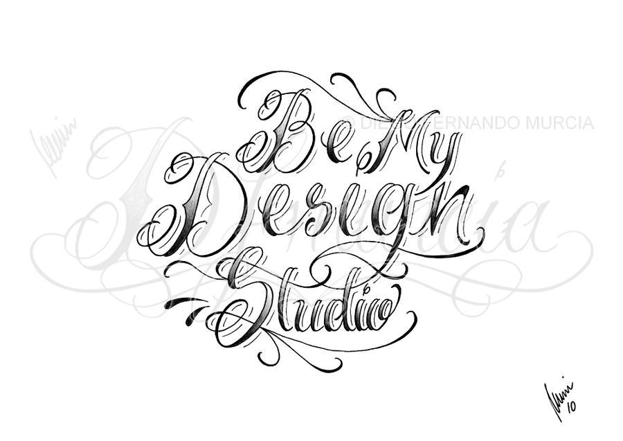 Be My Design Studio lettering by dfmurcia on DeviantArt
