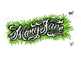 Mary Jane lettering by dfmurcia