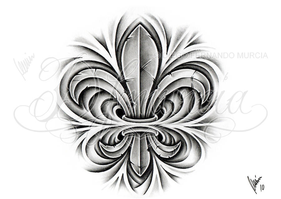 Custom fleur de lis by dfmurcia on deviantart - Tattoo tribal fleur ...