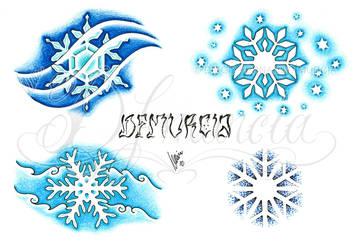 Snowflakes flash sheet by dfmurcia