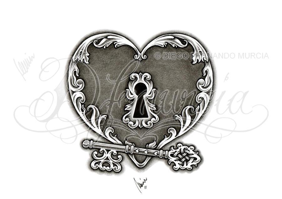 heart lock and key 02 by dfmurcia on deviantart. Black Bedroom Furniture Sets. Home Design Ideas