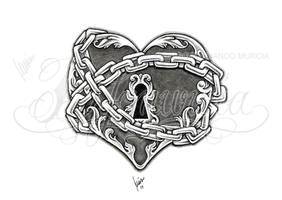 Heart lock and key 03 by dfmurcia
