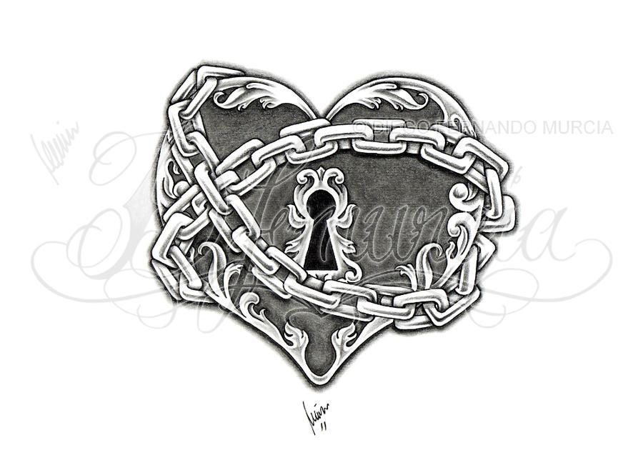 heart lock and key 03 by dfmurcia on deviantart. Black Bedroom Furniture Sets. Home Design Ideas