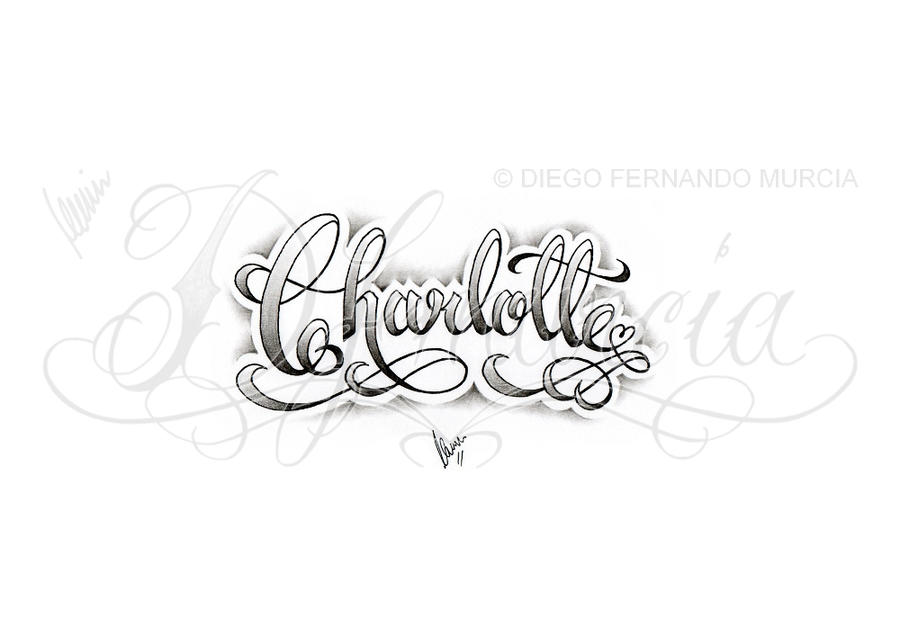 charlotte lettering by dfmurcia on deviantart. Black Bedroom Furniture Sets. Home Design Ideas