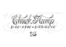 Chuck Stump lettering by dfmurcia