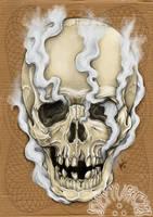 Smoked skull by dfmurcia
