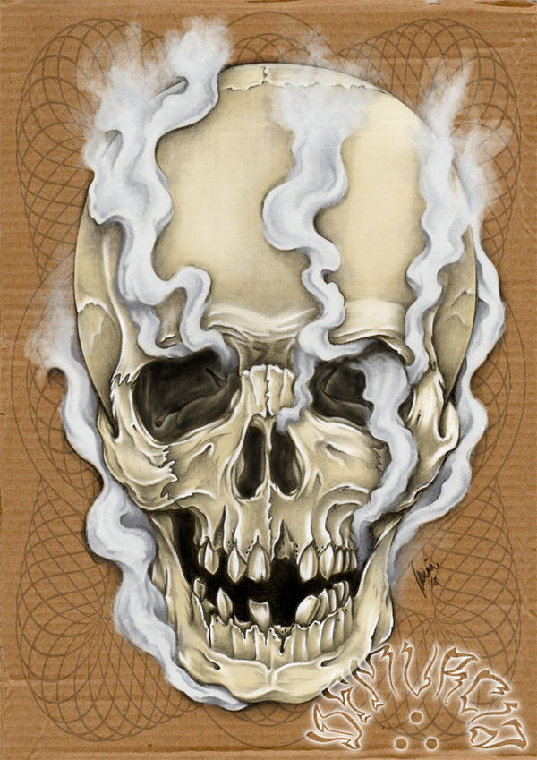 Smoked skull by dfmurcia on DeviantArt