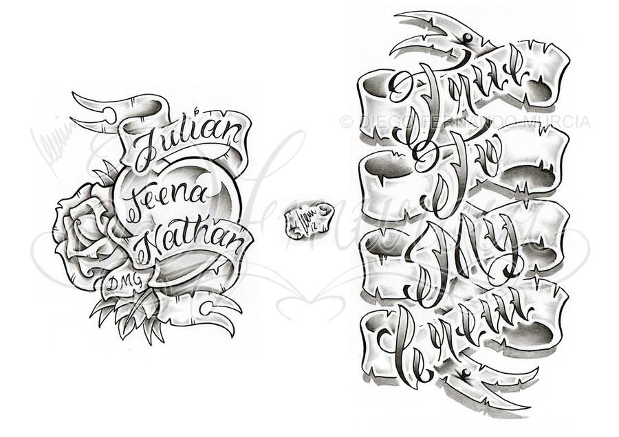 Banner lettering sheet by dfmurcia on DeviantArt