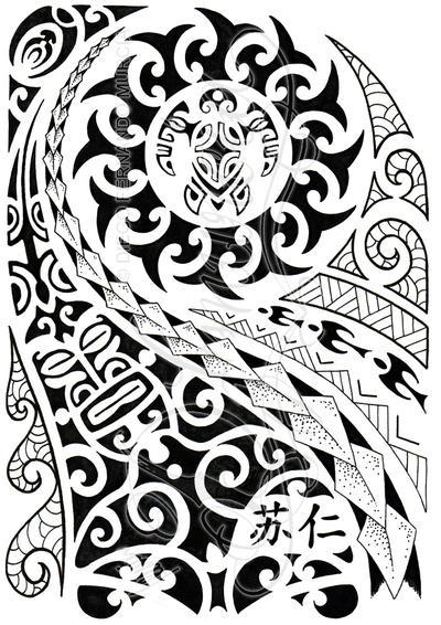 polynesian half sleeve 04 by dfmurcia on deviantart. Black Bedroom Furniture Sets. Home Design Ideas