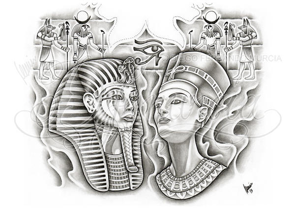Egyptian back-piece by dfmurcia on DeviantArt