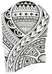 Polynesian 3/4 sleeve 01-A