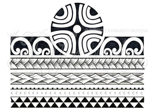 polynesian 3 4 sleeve 02 d by dfmurcia on deviantart. Black Bedroom Furniture Sets. Home Design Ideas