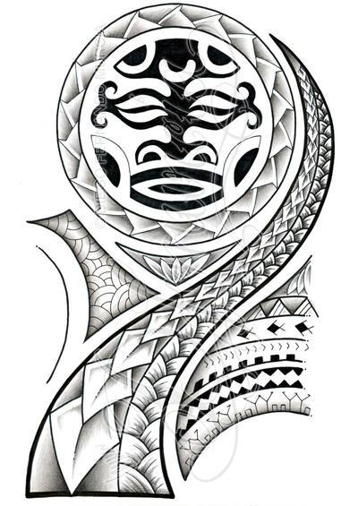 Polynesian 3/4 sleeve 02-A by dfmurcia on DeviantArt  Polynesian 3/4 ...