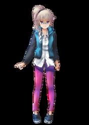 Ponytailed anime girl