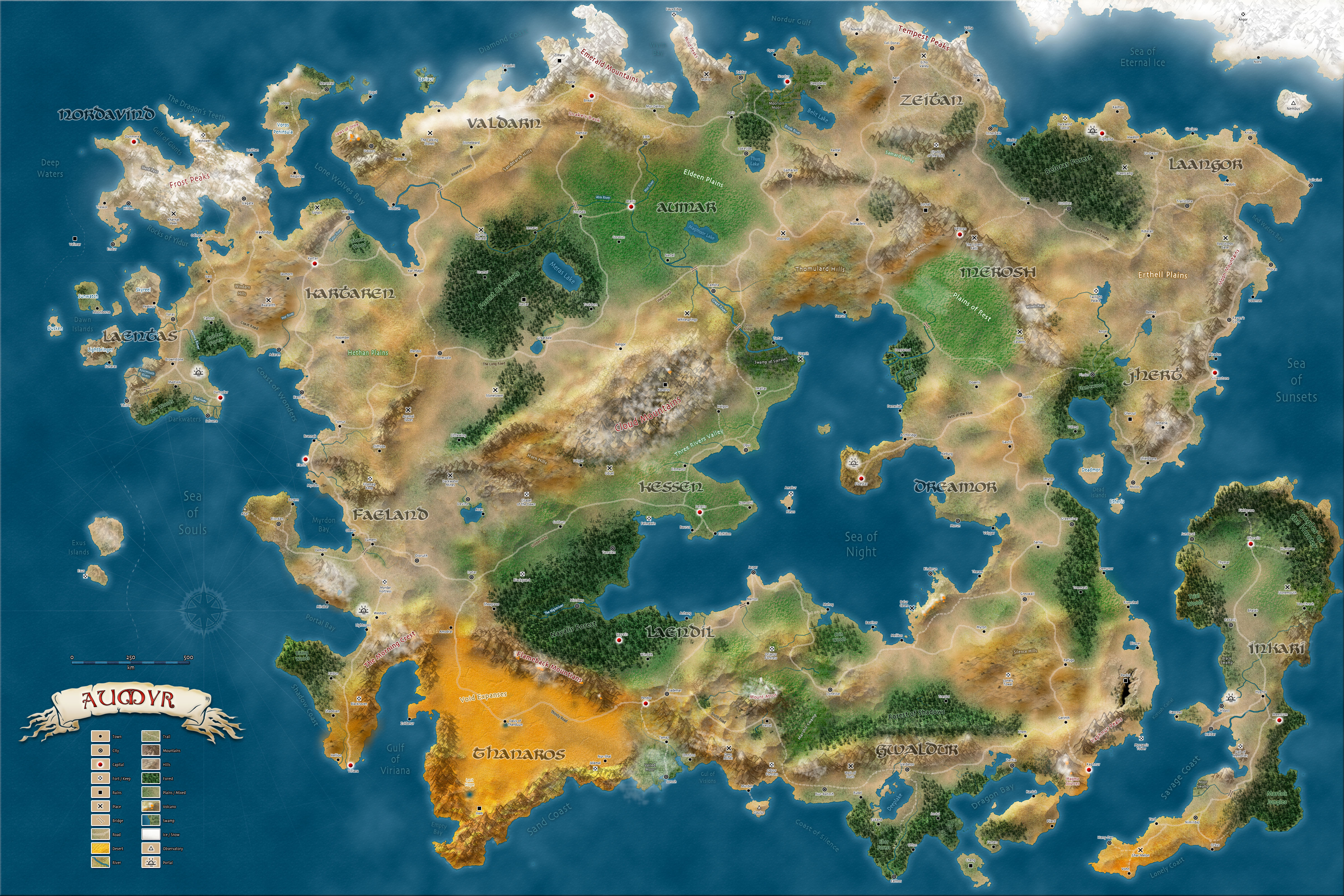 Official Dd World Map.Aumyr A World For Dungeons Masters General Discussion D D