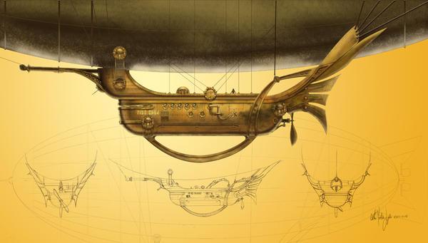 Steampunk Zeppelin Wallpaper Steampunk Zeppelin by Kimagu
