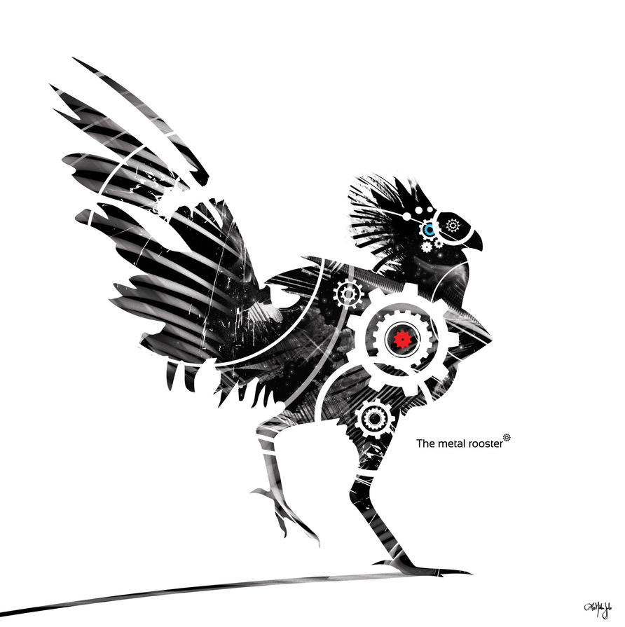 The metal rooster by Kimagu