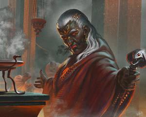 Flammor (High priest of Sogron the fire god.)