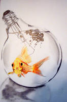 Life in the Fish Bulb by MagentaChampagne