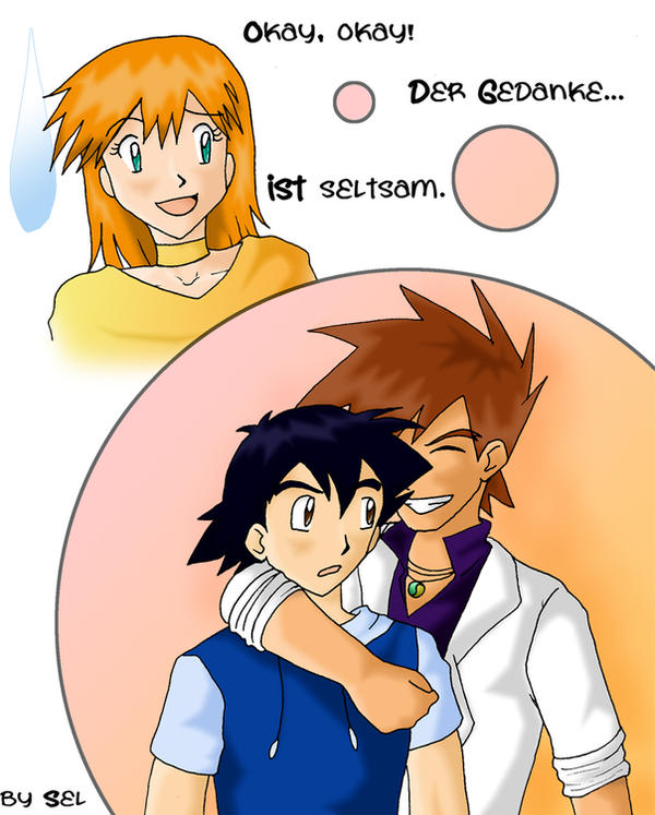 Ash and Gary become friends Oo by Sel-Chan