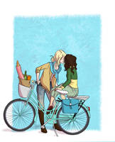 HP - Bycicle Girls by fortheloveofpizza