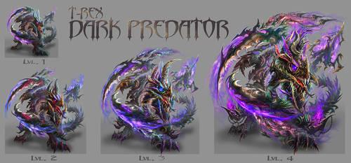 T-REX DARK PREDATOR lvl 1 to 4