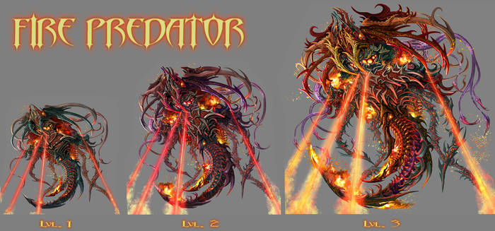 FIRE PREDATOR -lvl 1 to 3