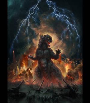 T-Shirt Illustration -Godzilla