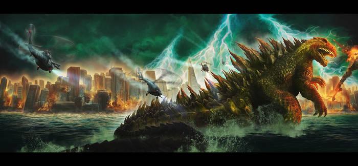 Banner illustration- GODZILLA