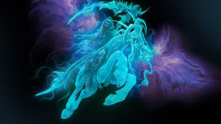 Purple-Blue DEATH Concept