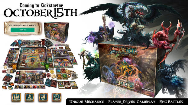 Heroes and Gods Board Game is now on Kickstarter