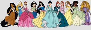 Disney princess lineup colourswap