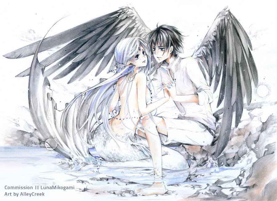 COM: Luna x Yuri by AlleyCreek