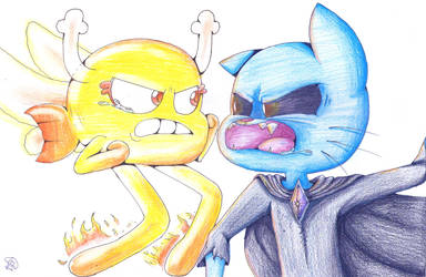 Darny VS D.Gumball by lilie-pucisse
