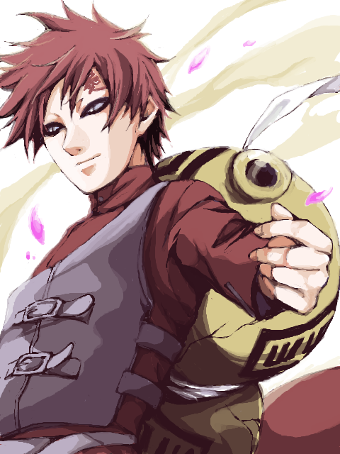 Gaara smiles! by AmazonianGoddess on DeviantArt
