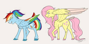 Naturaverse - Rainbow Dash and Fluttershy