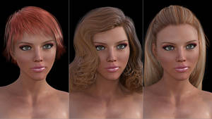 01 Various Hair Tests w/Camera lights only