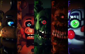 FNaF's 2nd Anniversary by Fazband83