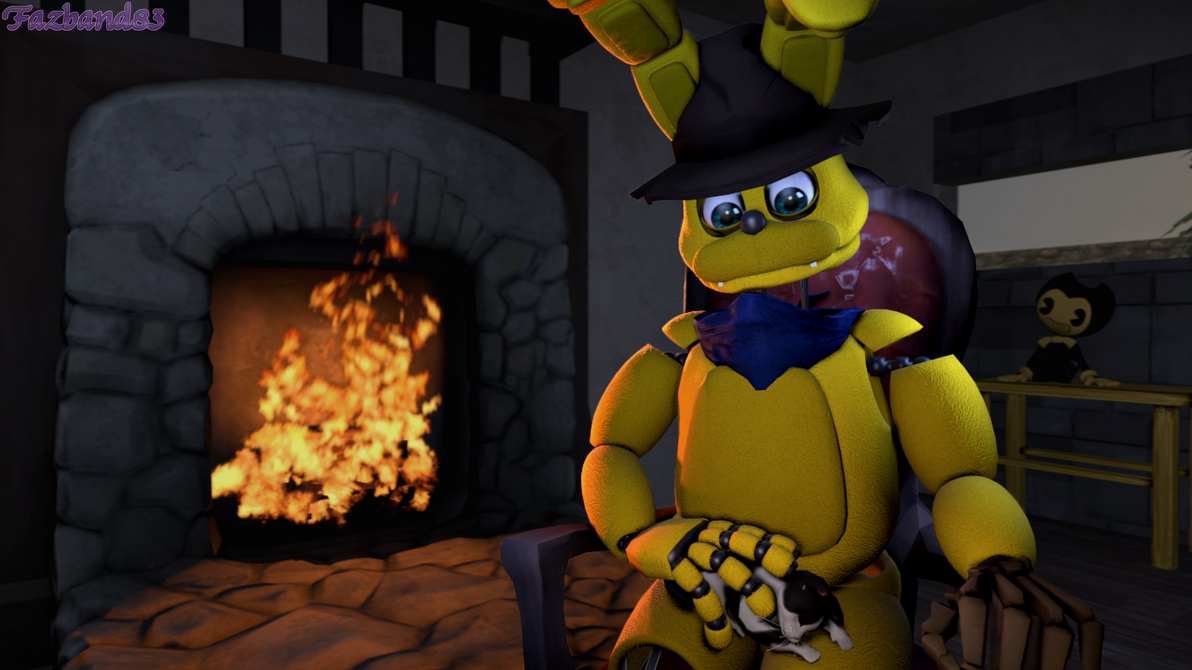 (SFM/Oc/Gift) Relaxing with snowball by Fazband83