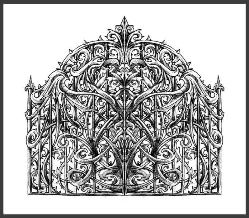 Gate design by j m s on deviantart